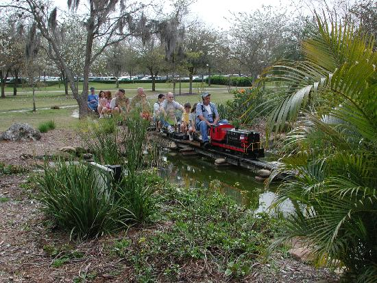 Chugging along on the Largo Central Railroad is always a treat for young children.