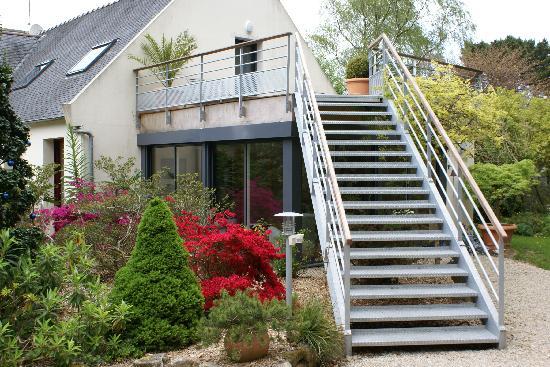 Cleder, France : Le jardin au mois d'avril...