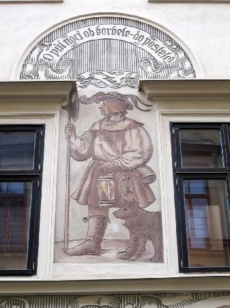 Stopkova Plzeňská Pivnice: altra decorazione a graffito
