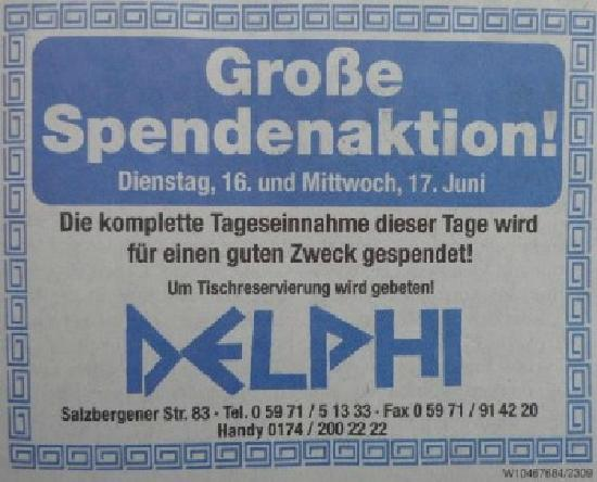 Restaurant Delphi: DELPHI-Rheine