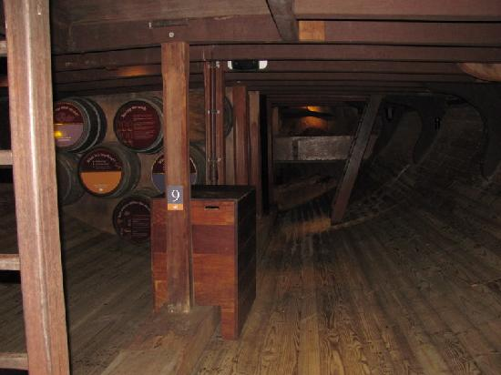 Replica of the Brig Amity: where the food was stored