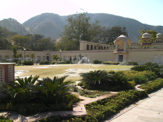 Sisodia Rani Palace and Garden: looking back towards the palace, which has a few small state rooms open to visitors