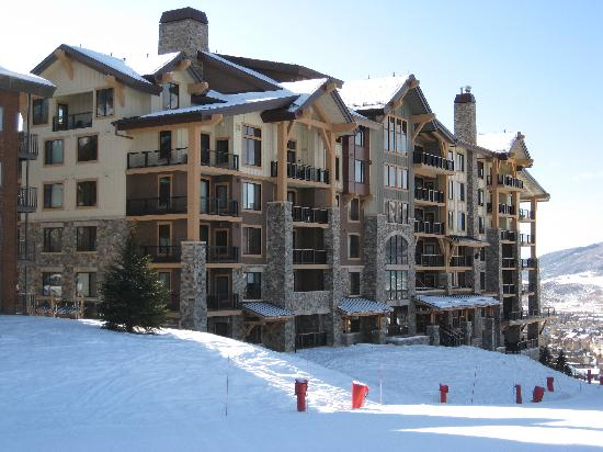 Edgemont Condominiums: Edgemont from slopes (north side of property)