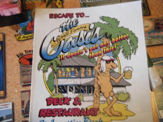 World Famous Oasis Restaurant: menue