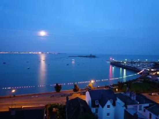 The Panorama: Full Moon and High Tide at St.Aubin.