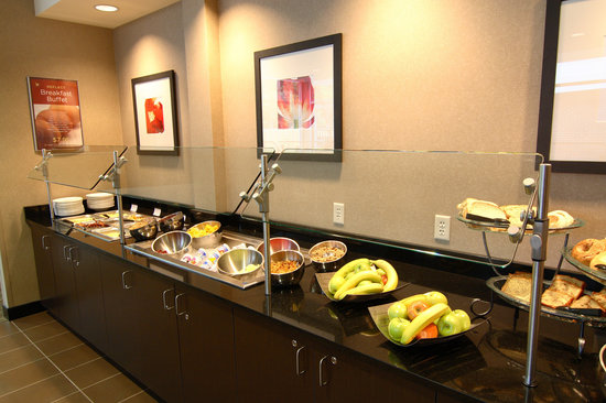 "Cambria hotel & suites Traverse City: Our breakfast buffet has a ""made to order"" omlette station, includes juice & coffee for $8.95"