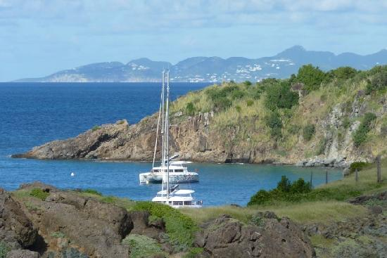 Colombier Beach: St Martin in the distance
