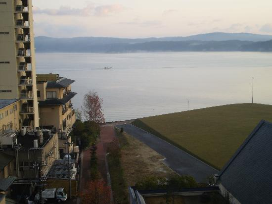 Hotel Noto Club : 部屋から見える七尾湾です