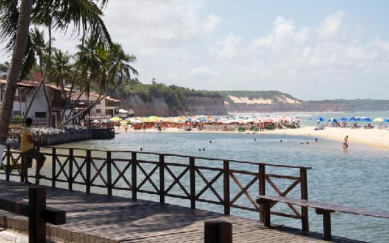 Praia de Pipa gezien vanaf de Pipa beach Club