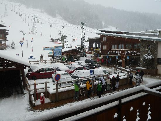 Hotel L'Equipe: vue du balcon