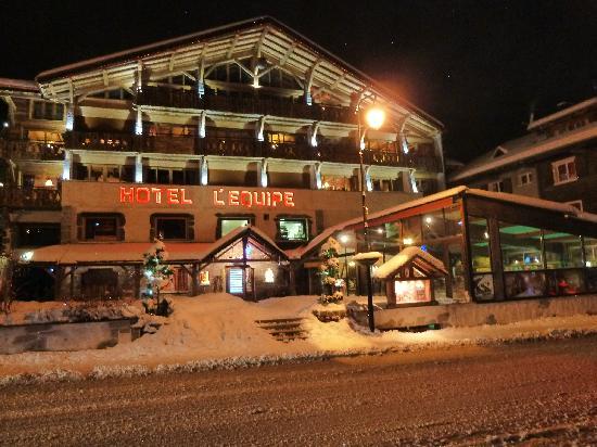Hotel L'Equipe : vue nocturne