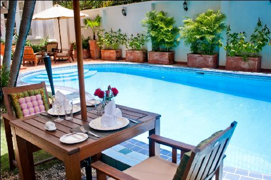 La Villa French Restaurant: Table By Poolside