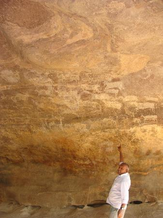 Rock Shelters of Bhimbetka: more than 400 animals are drawn here