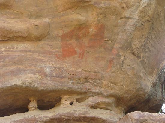 Rock Shelters of Bhimbetka: Rock 15 - Biggest Image