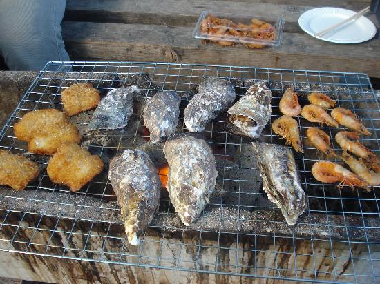 Hinase Fishermens's Market : バーベキューコーナー