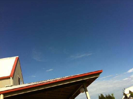 Sky on Ogishi Craft Centre Roof