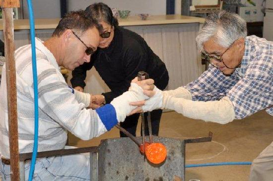 Ogishi Craft Centre: Glassblowing Lesson View