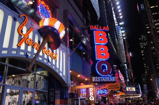 Dallas Bbq Times Square Outside The Restaurant