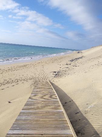 Esquinzo, Spain: fin des escaliers menant à la plage