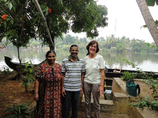 Ayana's Homestay: Podma, Gopal and myself