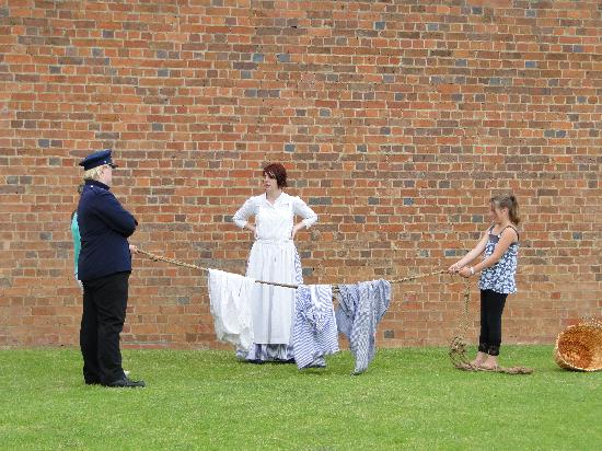 Old Dubbo Gaol: entertainment by two actors and a volunteer