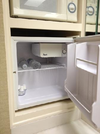 Candy Cane Inn: complimentary water and cream in fridge