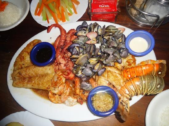 El Timon seafood platter Oct 2011
