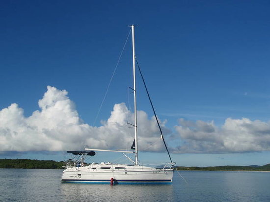 Ceiba, Puerto Rico: Anchored to stay the night in paradise!