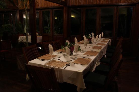 Hotel Relais du Masoala: Dining at the Relais du Masoala