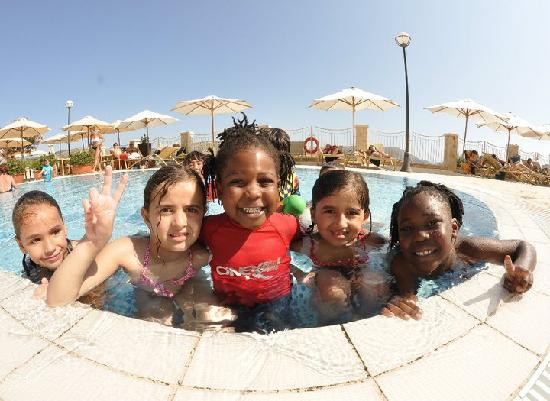 Radisson Blu Resort & Spa, Malta Golden Sands: my kids at kids club, swim time.