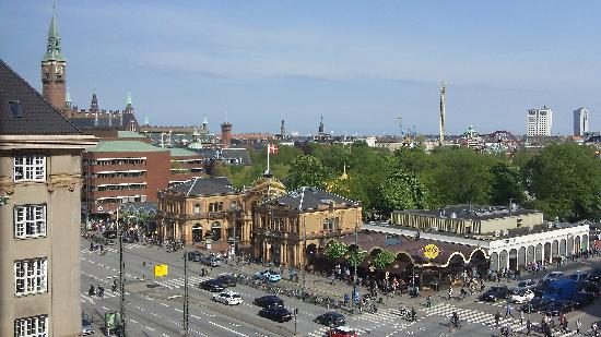 Radisson Blu Royal Hotel Copenhagen : View from hotel looking ESE towards Tivoli Gardens.