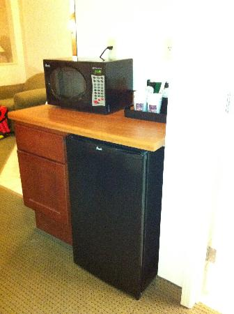 Comfort Suites Schaumburg: nice sized fridge with microwave