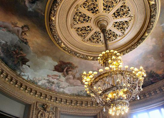 Bacchanal ceiling and chandelier in the Glacier - Picture of ...:Palais Garnier: Bacchanal ceiling and chandelier in the Glacier,Lighting