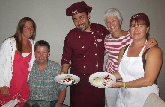 Epicurean Chef Services : Carlos and Tani with Charles, Shannon and Janet