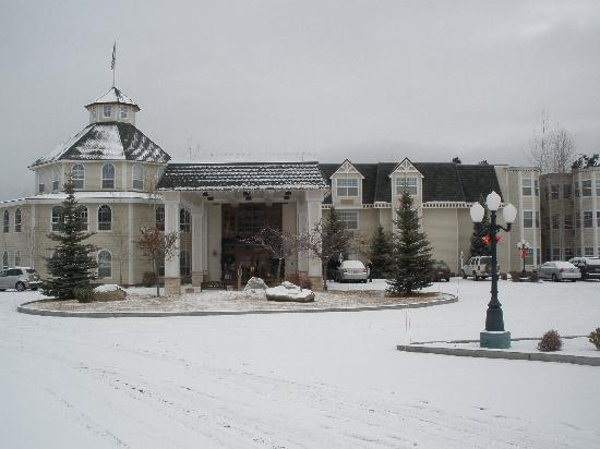 Cascade, ID: Fresh snowfall on the Ashley Inn