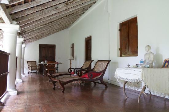 The Kandy House: Terrace outside Cornelian