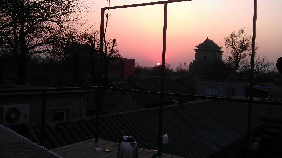 The Orchid Hotel: Sunset view from roof terrace -- YANG room