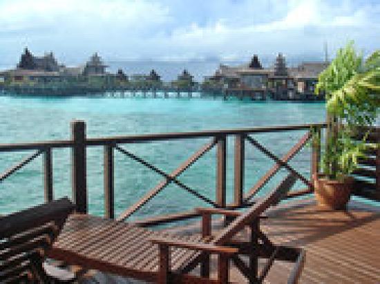 Sipadan Water Village Resort: view from deck overlooking another resort
