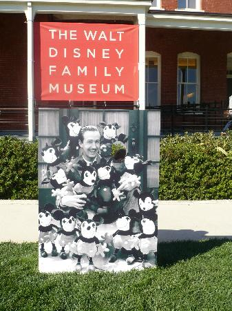 Walt Disney Family Museum: You can stick your head through this sign outside!