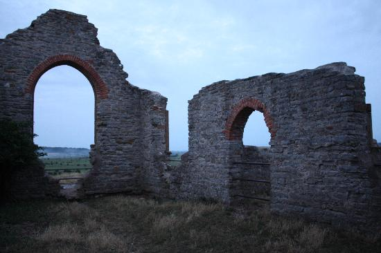 Burrow Mump: The church ruins