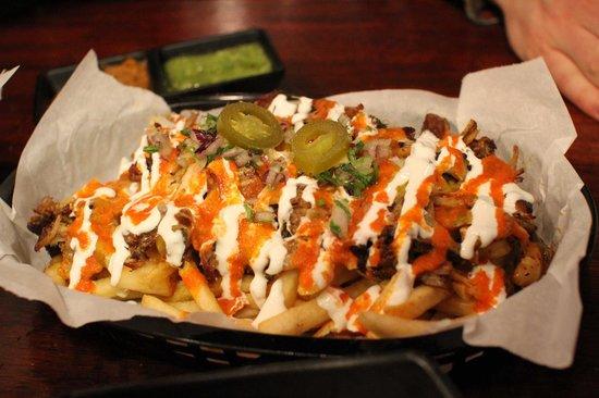 Vatos Urban Tacos Itaewon : Kim Chi Carnitas Fries.
