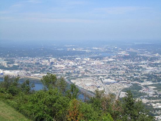 Lookout Mountain: Blick von der Aussichtsplattform der Zahnradbahn