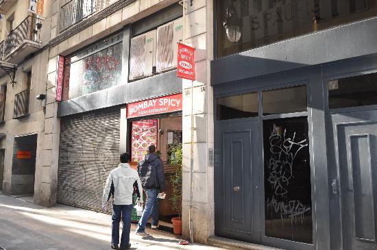 View of Bombay Spicy Restaurant, Barcelona