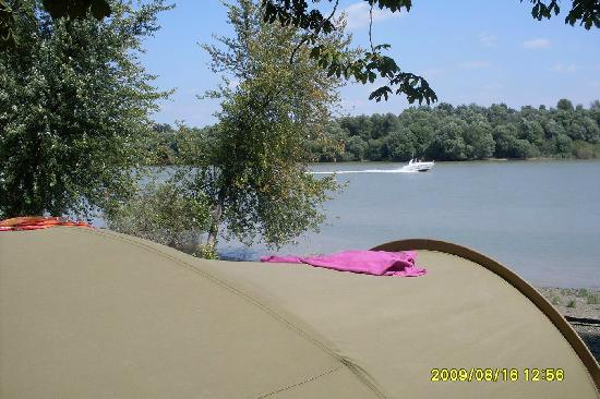 Pap-sziget Camping : Tent with Danube view in Campsite Pap-sziget, Szentendre