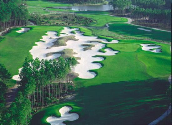 Hammock Dunes Creek Course: Creek #9 and #18 Greens