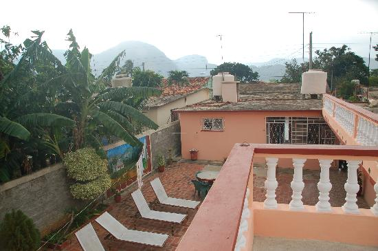 Casa Villa Silvia: View from the roof over the new patio