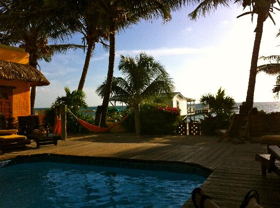 Seaside Cabanas: Great views from the pool area