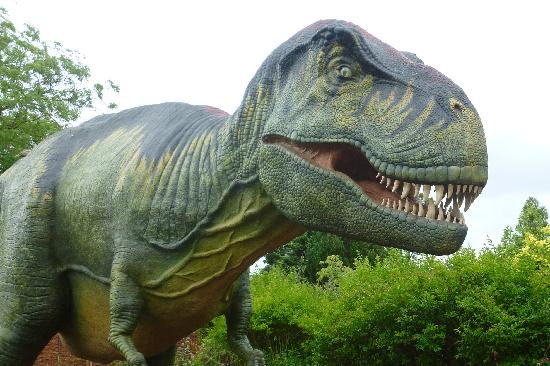 Animatronic dinosaur- quite scary ! - Picture of Chester Zoo, Chester - TripAdvisor