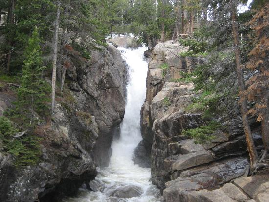 Waterfall picture of old fall river road rocky mountain national old fall river road waterfall altavistaventures Images