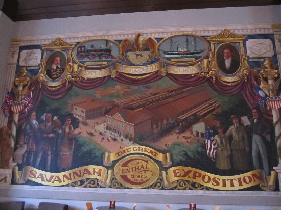 Savannah Visitors Center: Wandgemälde im Visitors Center